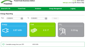 PowerChute Business Edition Agent Energy Reporting