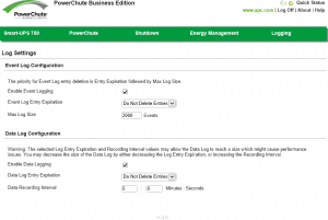 PowerChute Business Edition Agent Log Settings